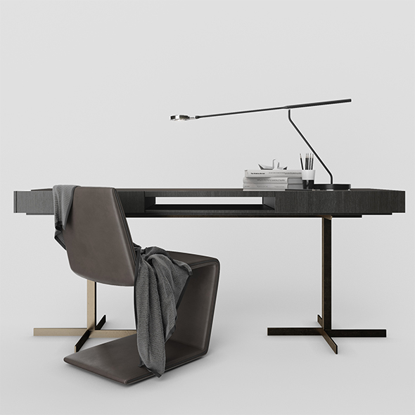 "Minotti Phillips chair and Close ""Writing Desk"""