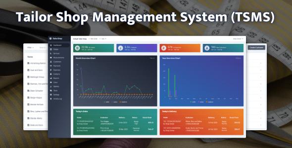, Tailor Shop Management System (TSMS), Laravel & VueJs