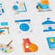 Education Modern Flat Animated Icons