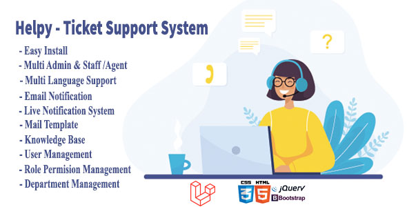 , Helpy – Knowledge Base Ultimate Ticket Support System, Laravel & VueJs