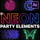 Neon Party Elements | After Effects
