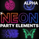 Neon Party Elements | Motion Graphics Pack