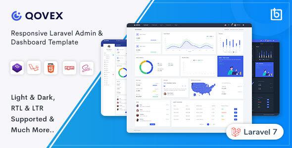 , Qovex – Laravel Admin & Dashboard Template, Laravel & VueJs, Laravel & VueJs
