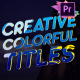 Creative Colorful Titles | Premiere Pro MOGRT