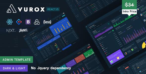 , Vurox – React NextJs Admin Template, Laravel & VueJs