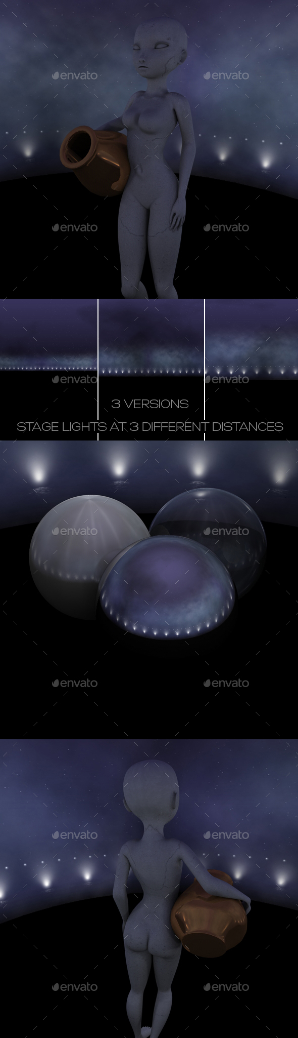 3 Nighttime Stage HDRI + JPG