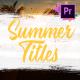 Colorful Summer Titles   Premiere Pro MOGRT