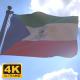 Equatorial Guinea Flag on a Flagpole V4 - 4K