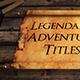 Epic Scroll Titles Bundle