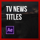 News Minimal Lower Thirds