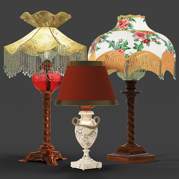 Set of vintage lamps