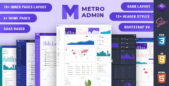 , MetroAdmin – Admin & Dashboard Template, Laravel & VueJs