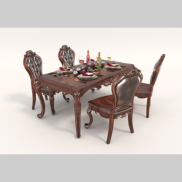 European Style Dinning Table Chair Set 2