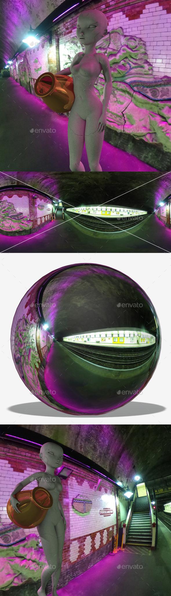 Neon Underground Station HDRI