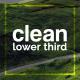 Clean Lower Thirds I Premiere Pro (Mogrt)