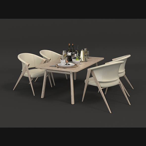 Contemporary Design Table and Chair Set 5