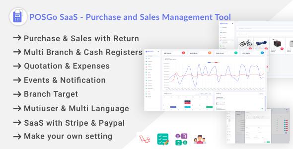 , POSGo SaaS – Purchase and Sales Management Tool, Laravel & VueJs