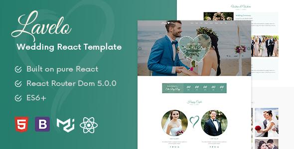 , Lavelo – React Wedding Template, Laravel & ReactJs