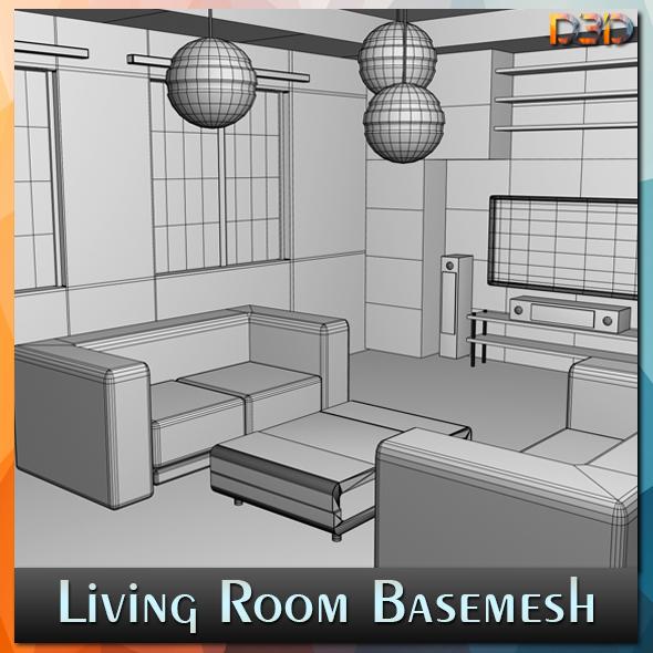 Living Room Basemesh