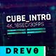 Cube Intro/ Glitch Opener/ Game Tournament/ Cyber Sport/ Hi-Tech HUD/ Streamer/ Youtube Techno Blog