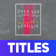 Modern Colored Stripes Titles
