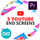 YouTube End Screens | Premiere Pro MOGRT