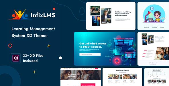 , InfixLMS – Learning Management System XD Template, Laravel & ReactJs