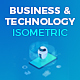 Business and Technology Isometric Concepts