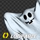 Funny Sheet Ghost - Transparent Loop