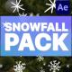 Cartoon Snowfall   After Effects
