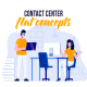Contact center - Flat Concept