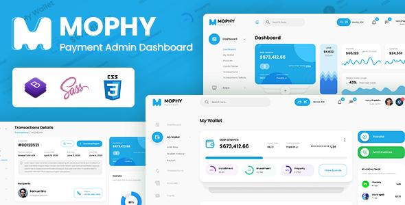 , Mophy – Payment Admin Dashboard Bootstrap Template, Laravel & VueJs