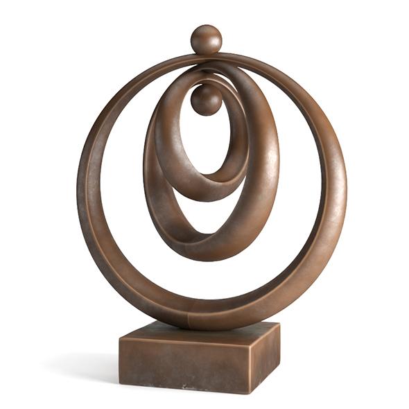 Modern Decorative Abstract Bronze Art 01