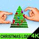 Minimal Christmas Tree Logo
