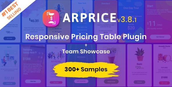 easy pricing table ARPrice ireal-time editor