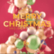 Merry Christmas Elegant Abstract 3D