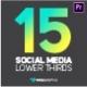 Dark Glossy Social Media Lower Thirds
