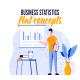 Business statistics - Flat concept