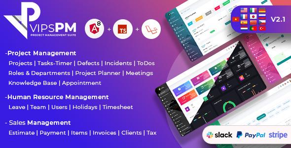 , VipsPM – Project Management Suite, Laravel & VueJs