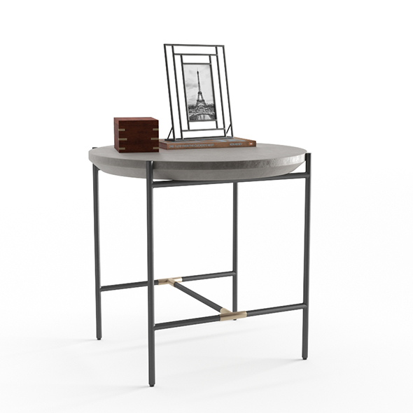 West Elm Finian Concrete and Iron End Table
