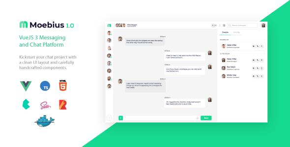 , Moebius – VueJS 3 Chat Platform UI, Laravel & VueJs