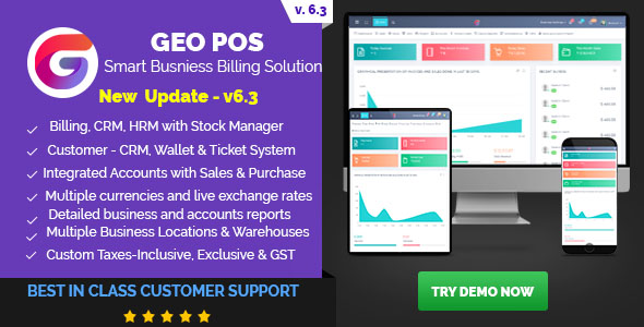 , Geo POS – Point of Sale, Billing and Stock Manager Application, Laravel & VueJs