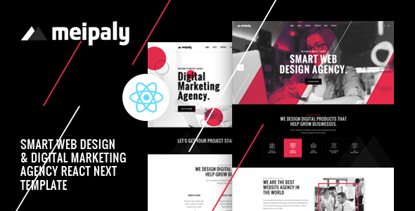 , Meipaly – React Next Digital Services Agency Template, Laravel & ReactJs