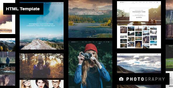 , Photography HTML Template, Laravel & VueJs