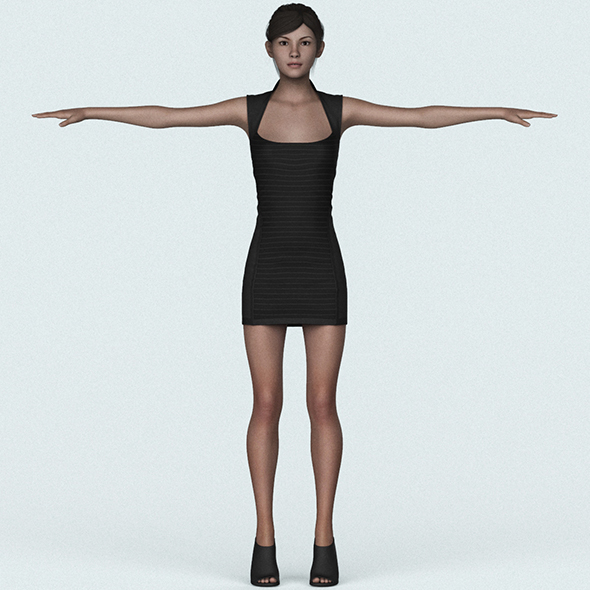 Young Sexy Girl 3D Character
