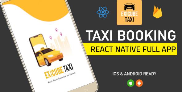 , Exicube Taxi App, Laravel & ReactJs