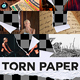 Torn Paper Transitions With Sound