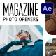 Magazine Photo Openers - Logo Reveal