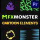Cartoon And Scribble Elements | Premiere Pro MOGRT