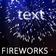 Text Fireworks